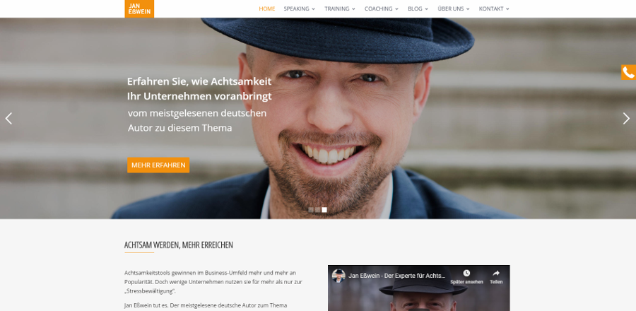 Referenzbild Website